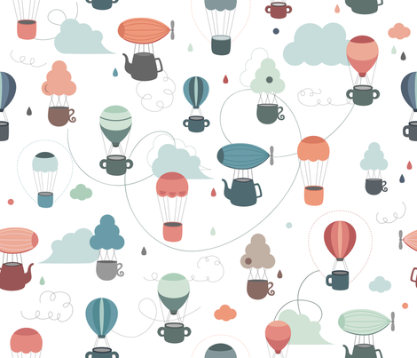 flying_cups fabric by la_fabriken on Spoonflower - custom fabric
