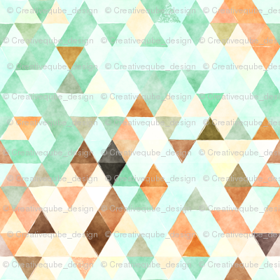 Marmalade Watercolor Triangles