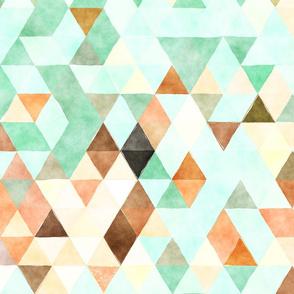Marmalade Watercolor Triangles
