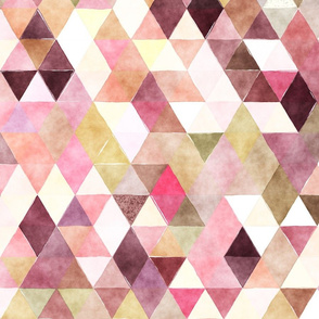 Blackberry Patch Watercolor Triangles