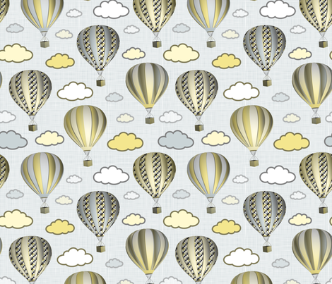 Mongolfieres fabric by vannina on Spoonflower - custom fabric