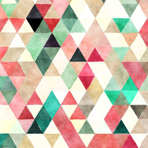 Mountains Watercolor Triangles