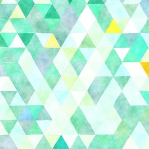 Spring Rain Watercolor Triangles