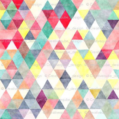Bright Bots Watercolor Triangles