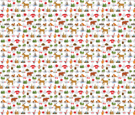 Canada Love fabric by collide_prints on Spoonflower - custom fabric