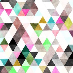 Lollypop Watercolor Triangles