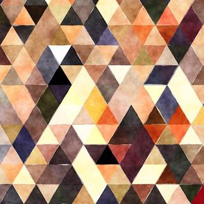 Earth Watercolor Triangles