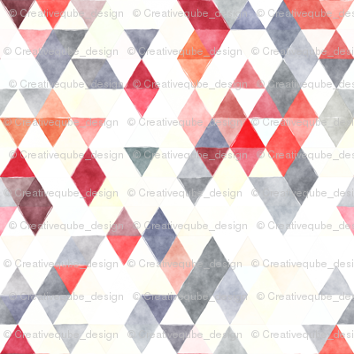 Marching Band Watercolor Triangles
