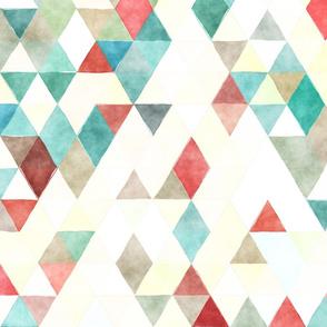 School Day Watercolor Triangles