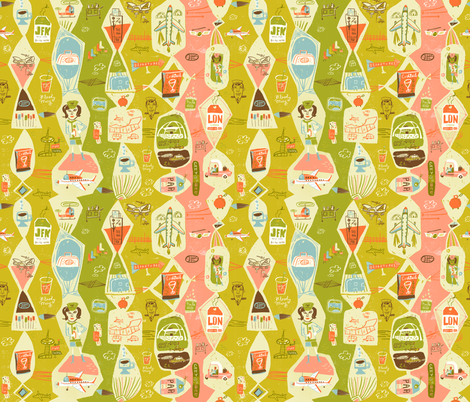 Jetsetter fabric by skbird on Spoonflower - custom fabric