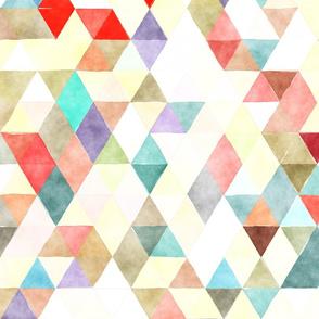 Beach Hut Watercolor Triangles