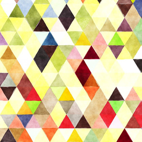 Sunny Day Watercolor Triangles