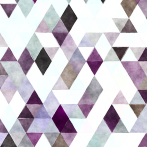 Purple Pansy Watercolor Triangles