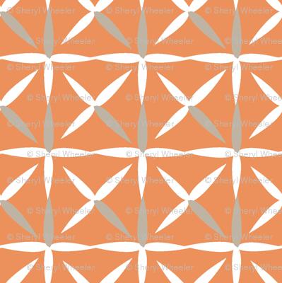 raindrop quilt peach&white (grey)