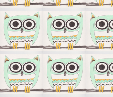 MamaOwl fabric by chovy on Spoonflower - custom fabric