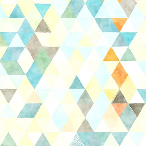 Soft Cloud Watercolor Triangles