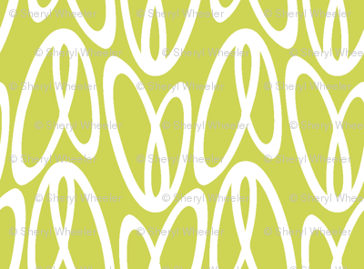 dragonfly wings reverse (chartreuse)