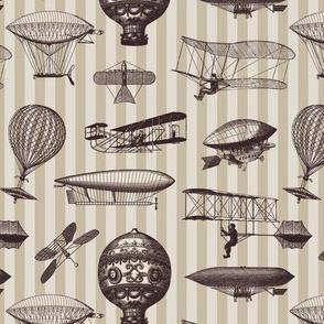 Retro Flying Machines Stripes
