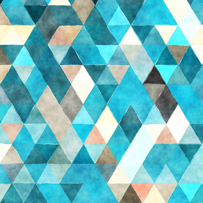 Oceanic Watercolor Triangles