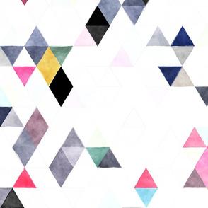 Snowcaps Watercolor Triangles