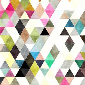 Crayon Box Watercolor Triangles