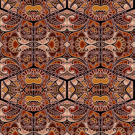 Frappuccino Scene-O fabric by edsel2084 on Spoonflower - custom fabric
