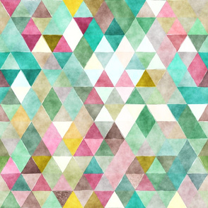 Playground Watercolor Triangles