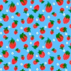 Grandmas Strawberries Blue