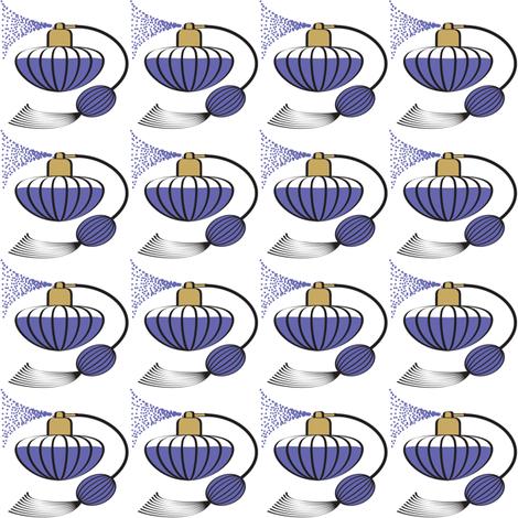 Perfume Atomizer Purple fabric by amyperrotti on Spoonflower - custom fabric