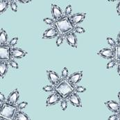 Jewelbox: Diamond Brooch Repeat in Eggshell Aqua