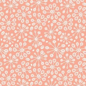 Dandy Blossom Geometric Floral Peach - Summer Breeze
