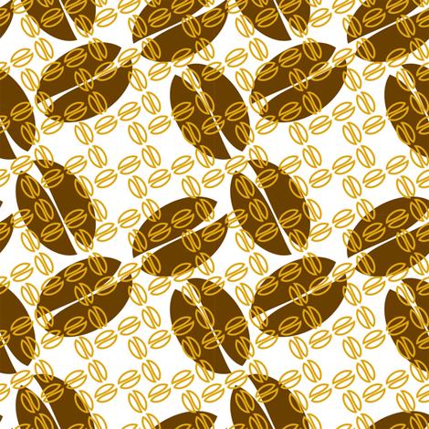 Autumn Bean fabric by gingerprints on Spoonflower - custom fabric