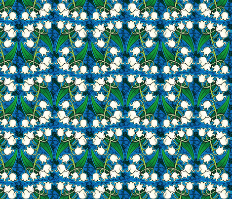 Lily of the Valley fabric by hannafate on Spoonflower - custom fabric