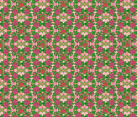 rose ornaments fabric by hannafate on Spoonflower - custom fabric