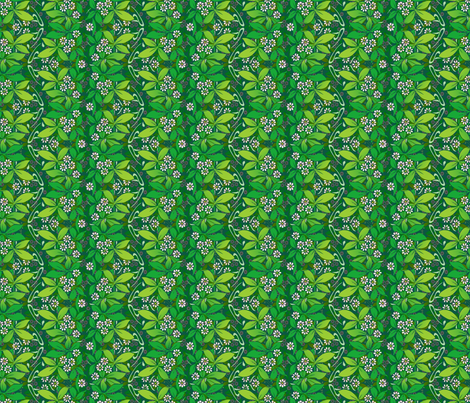 little flowers and greenery fabric by hannafate on Spoonflower - custom fabric