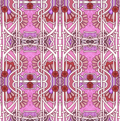 Twisted Up In Pink fabric by edsel2084 on Spoonflower - custom fabric