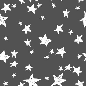 stars // charcoal star fabric nursery baby design andrea lauren scandi fabric