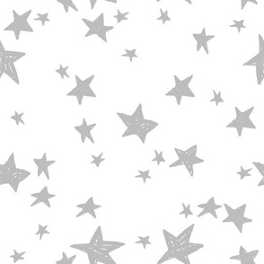 stars // white and grey star fabric nursery baby design andrea lauren fabric