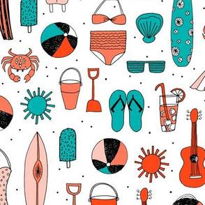 beach // summer vacation swimsuit swim beach sun surf shells