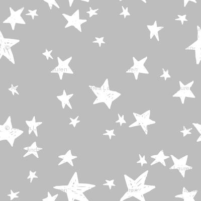 Stars slate grey stars fabric star design baby nursery for Constellation fleece fabric