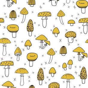 Mushroom - Mustard by Andrea Lauren