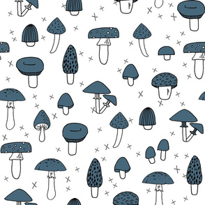 Mushrooms - Payne's Grey by Andrea Lauren