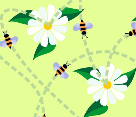 Bee flight paths
