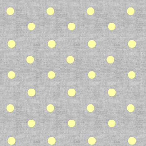 Yellow Dots on Texture Gray fabric by eyelet_skye_designs on Spoonflower - custom fabric