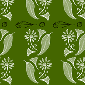 Leaves and flower_olive