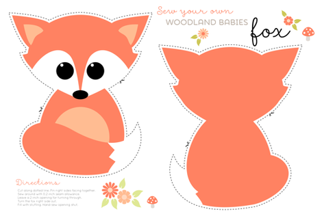 Sew your own baby fox  fabric by heleenvanbuul on Spoonflower - custom fabric