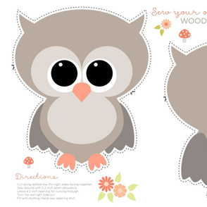 Sew your own baby owl