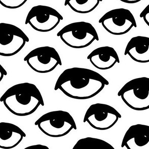 eyes // black and white eye  fabric