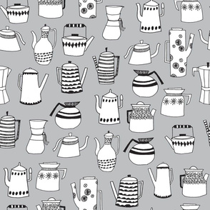 tea pots // coffee pots scandi grey simple tea teapots cute andrea lauren tea fabric