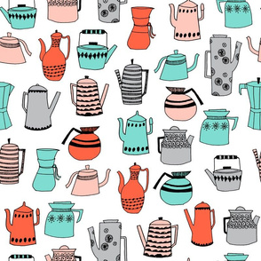 teapot // coffee pot tea kitchen tea towel kitchen design sweet tea